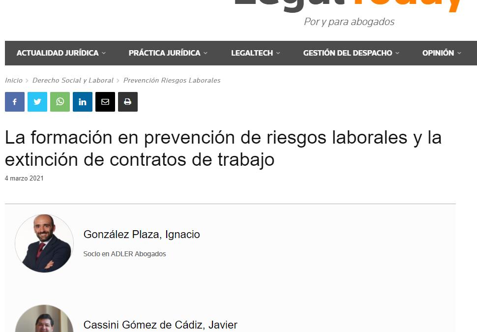 La formación en prevención de riesgos laborales y la extinción de contratos de trabajo